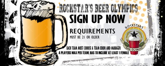 beer olympics, rockstars, raleigh